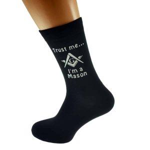 Regalia Store UK dsc_0161-300x300 Trust me I'm a Mason With Masonic G Design Mens Cotton Rich Socks
