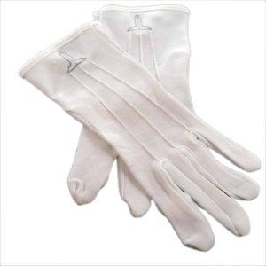 Regalia Store UK dsc_3717a-300x300 One Size Mens White Cotton Gloves with Senior Warden Masonic Design