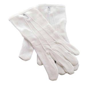 Regalia Store UK dsc_3719-300x300 One Size Mens White Cotton Gloves with Junior Warden Masonic Design