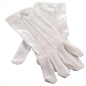 Regalia Store UK dsc_3720a-300x300 One Size Mens White Cotton Gloves with W. Master Masonic Design