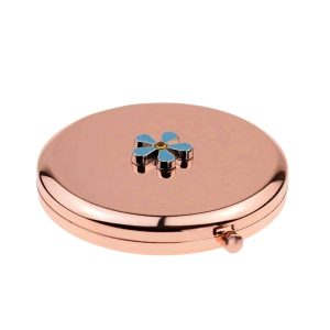 Regalia Store UK dsc_5769-300x300 Forget me Not Design Round Rose Gold Handbag Mirror (engravable)