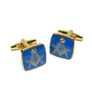 Regalia Store UK dsc_8142-300x300 Masonic Blue & Gold Plated Cufflinks with G