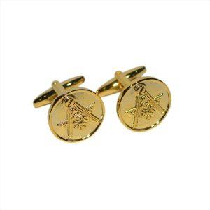 Regalia Store UK dsc_8144-300x300 Masonic Golden Cufflinks with G