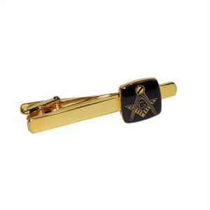 Regalia Store UK dsc_8146-300x300 Masonic Black & Gold Plated Tie Clip with G