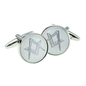 Regalia Store UK x2aj312-300x300 White & Silver Enamelled Masonic Cufflinks