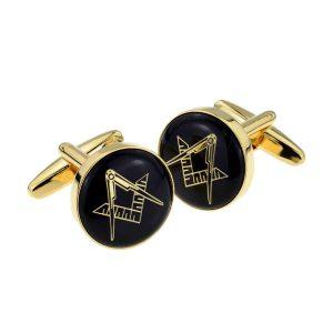 Regalia Store UK x2aj318-300x300 Black & Gold Enamelled Masonic Freemason Cufflinks
