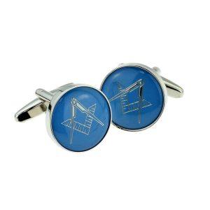 Regalia Store UK x2aj320-300x300 Blue & Silver Enamelled Masonic Freemason Cufflinks