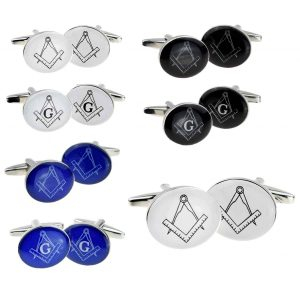 Regalia Store UK x2boco057-group-300x300 Oval Masonic Cufflinks