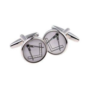 Regalia Store UK x2bocs263_1-300x300 White Masonic No G Round Cufflinks