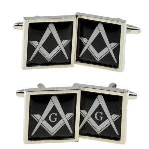 Regalia Store UK x2bocsb047_-_combined-300x300 Masonic Black Cufflinks (With or Without G)