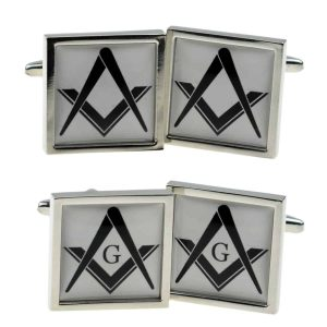 Regalia Store UK x2bocsb048_-_combined-300x300 Masonic White Cufflinks (With or Without G)