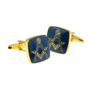 Regalia Store UK x2n241-300x300 Blue & Gold Plated Masonic Cufflinks No G