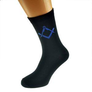Regalia Store UK x6n340-300x300 Blue Masonic No G Design Mens Black Socks