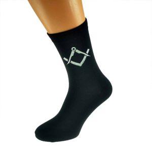 Regalia Store UK x6n341-300x300 Mens Black Socks with Silver Masonic Design (No G)