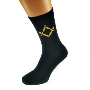 Regalia Store UK x6n342-300x300 Mens Black Socks with Gold Masonic Design (No G)
