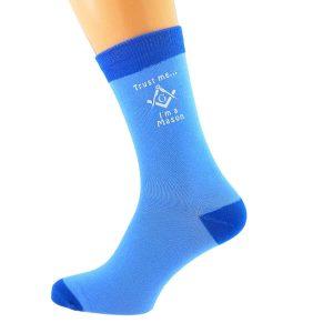 Regalia Store UK x6n631-300x300 Two tone Blue Unisex Socks Trust Me....I'm a Mason (with G)