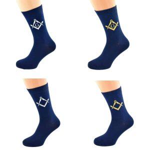 Regalia Store UK x6s224-004_group-300x300 Navy Blue Socks with Masonic Design