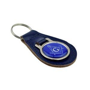 Regalia Store UK xkfr018-300x300 Blue Masonic Compass & Square Keyring with G