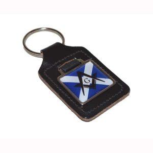 Regalia Store UK xkfs045-300x300 Leather Keyring Scottish Saltire Flag Masonic (With G and Without G) design