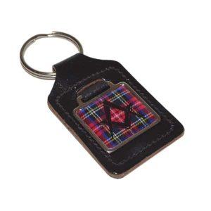 Regalia Store UK xkfs047-300x300 Leather Keyring Scottish Royal Stewart Tartan Masonic no G design
