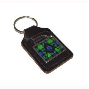Regalia Store UK xkfs060-300x300 Leather Keyring Scottish Mac Kenzie Tartan Masonic G design