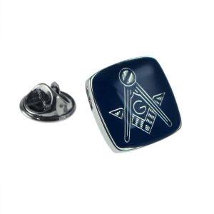 Regalia Store UK xmp005-300x300 Rhodium Plated & Blue Masonic with G Lapel Pin Badge