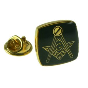 Regalia Store UK xmp006-300x300 Gold Plated & Black Masonic with G Lapel Pin Badge