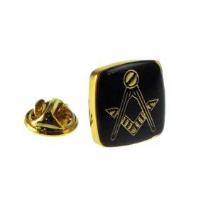 Regalia Store UK xnp243-300x300 Gold Plated & Black Masonic Lapel Pin Badge
