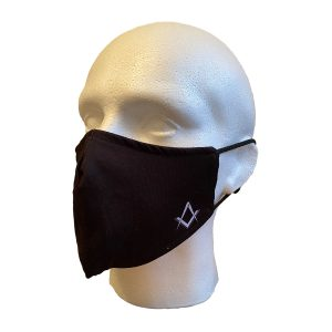 Regalia Store UK 2-300x300 Masonic Black Face Cover With S&C Motif