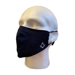 Regalia Store UK 3-300x300 Masonic Navy Blue Face Cover With S&C Motif