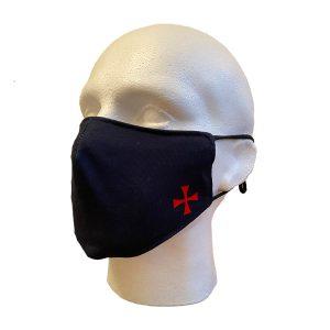Regalia Store UK 4-300x300 Masonic Face Cover With Knights Templar Motif