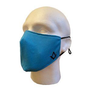 Regalia Store UK 7-300x300 Masonic Blue Face Cover With S&C Motif