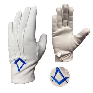 Regalia Store UK combine-1-300x300 White Masonic Gloves With Navy Blue Square & Compass